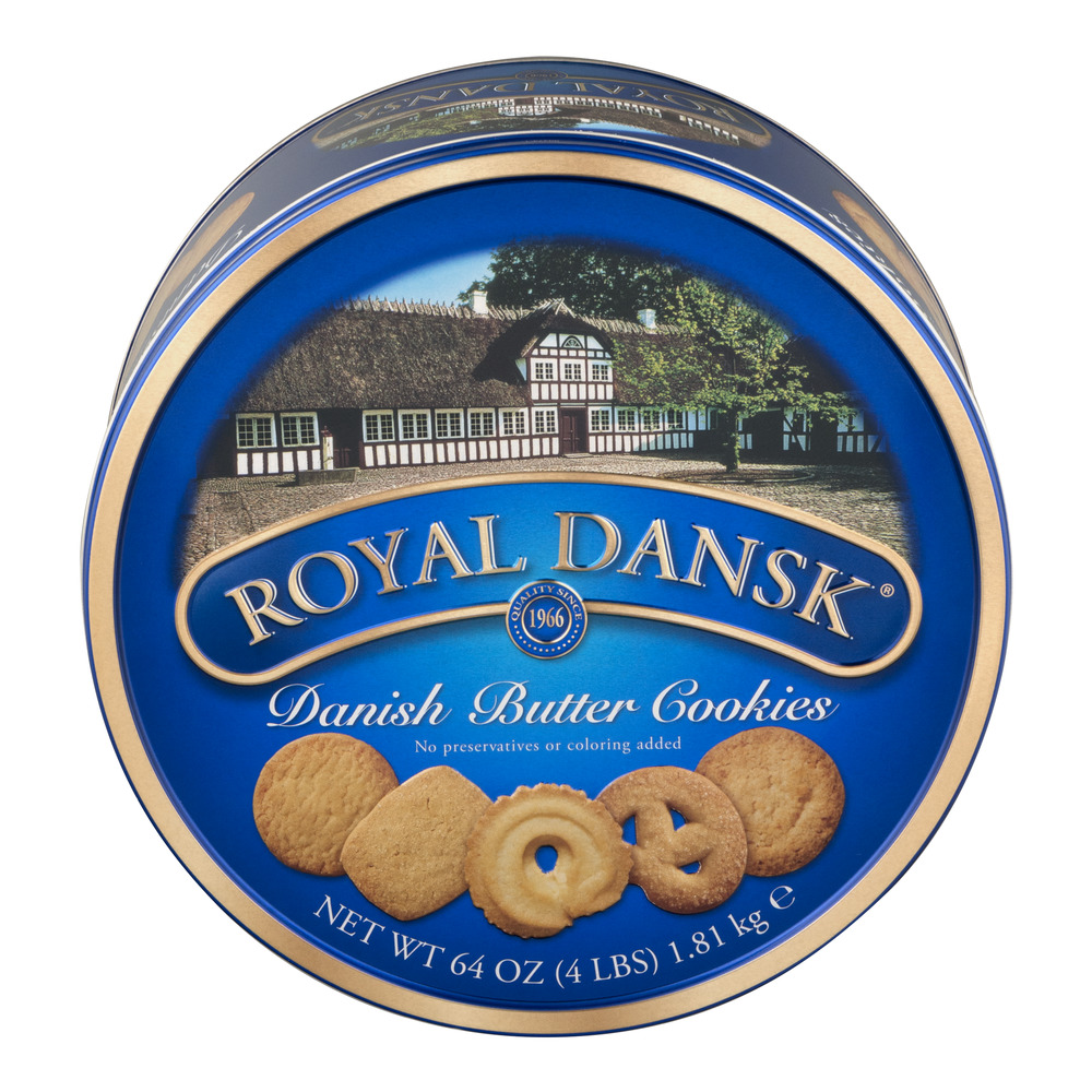 Royal Dansk Danish Butter Cookies, 64.0 OZ
