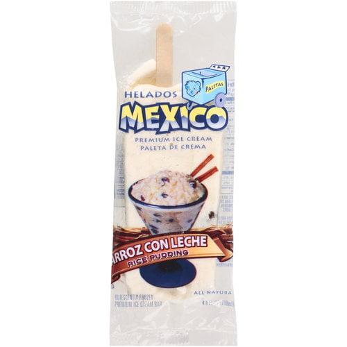 Helados Mexico Rice Pudding Premium Ice Cream Bar, 4 oz