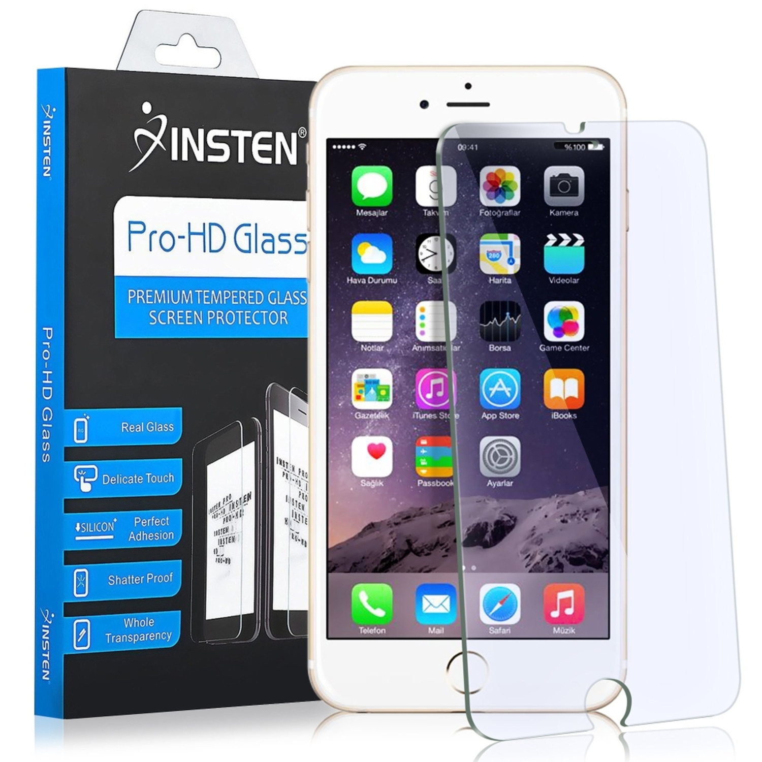 Insten (2-pack) Tempered Glass Screen Protector For Apple iPhone 8 Plus / iPhone 7 Plus 5.5 inch (9H Hardness & Anti-Scratch)