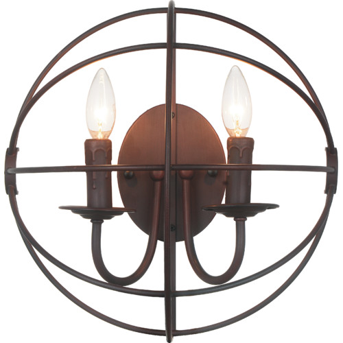 CWI Lighting Bird Cage 2-Light Candle Wall Light
