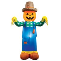 Inflatable Harvest Scarecrow Lighted Halloween Yard Decoration Deals