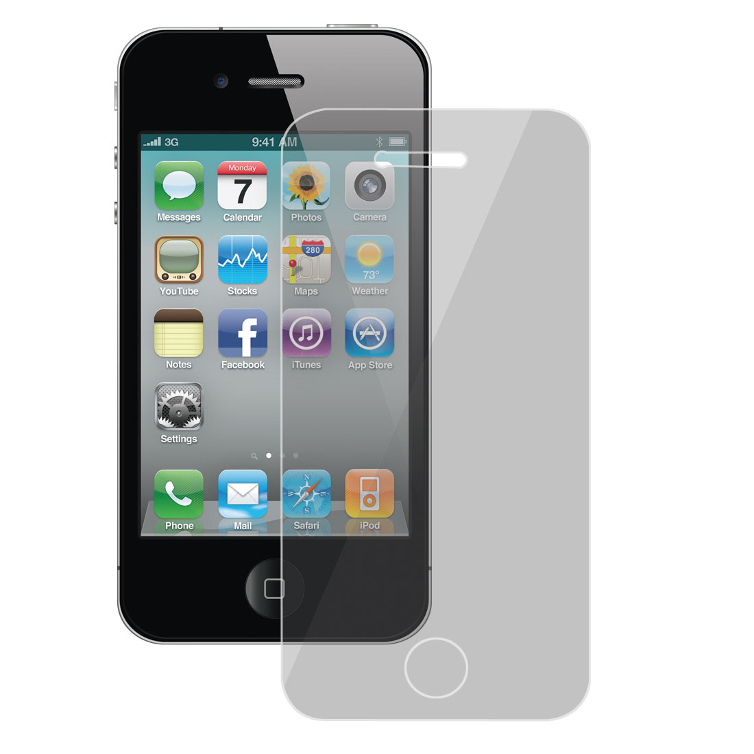 Privacy Anti-Spy Screen Protector Cover Film Guard Skin for iPhone 4 4G