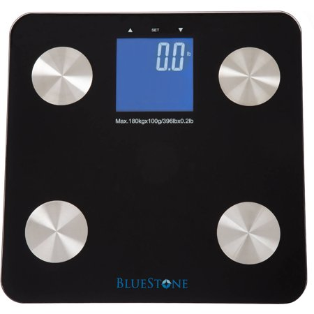 Bluestone Digital Body Fat Scale with Large LCD Display, (Display Body Fat)