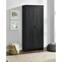 "SystemBuild Farmington 31.5"" Wide Storage Cabinet, Black Oak"