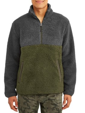 George Men's and Big Men's Boucle Half Zip Sweater, up to Size 5XL