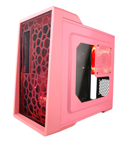 Apevia X-ENERQ-PK Mid Tower ATX Case with Window USB 3.0 (Pink)