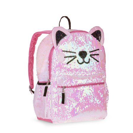 Kitty 2 Way Sequins Critter Backpack for $<!---->