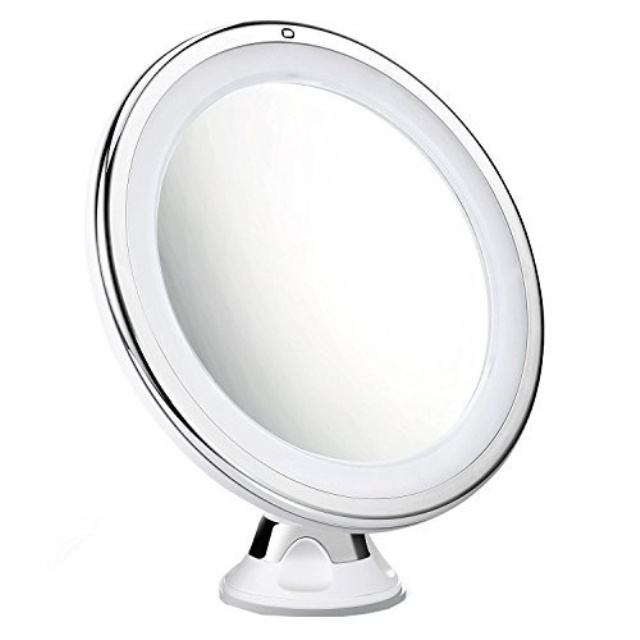 Mpow 5X Magnifying Mirror, 16 LED Lighted Makeup Mirror, 360 ...