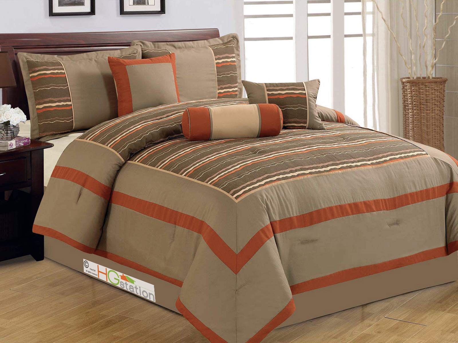 bed reviews croscill piece pdx wayfair rust reversible comforter fashions set home bath nadalia