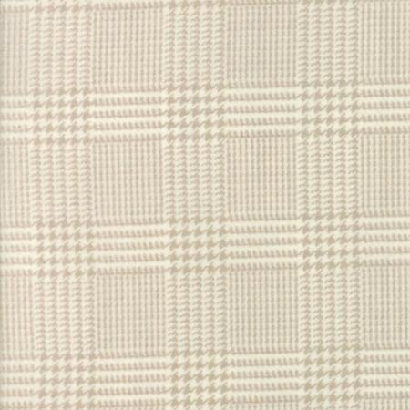 Moda Primitive Gatherings Wool and Needle Flannel VI Cream Herringbone Plaid