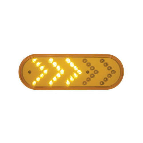 "6/"" Oval Amber LED Sequential Arrow Truck Bus Trailer Turn Signal Light Kits"