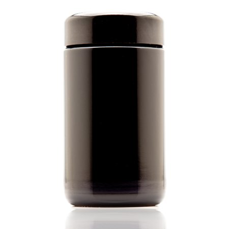 Infinity Jars 150 ml (5.07 fl oz) Tall Black Ultraviolet Refillable Empty Glass Screw Top - 150 Glass