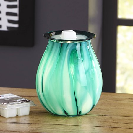 Better Homes & Gardens Tanzanite Art Glass Full-Size Scented Wax Warmer