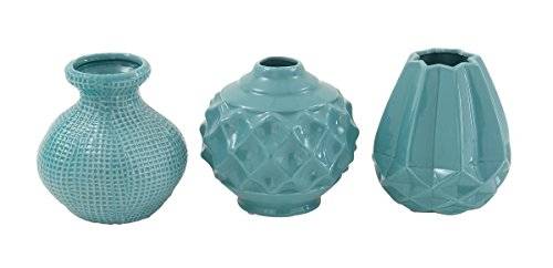Woodland Imports 3 Assorted Breathtaking Ceramic Vase by