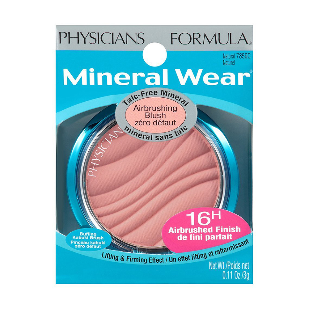 Physicians Formula Mineral Wear Talc-Free Mineral Airbrushing Blush Spf 30, Natural - 0.11 Oz, 2 Pack