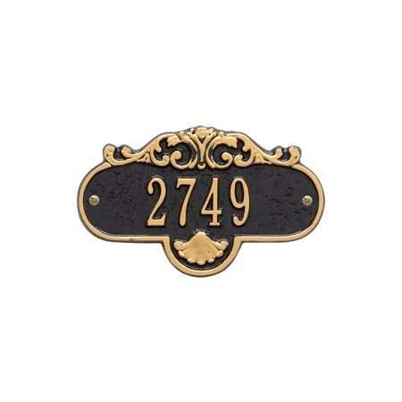 Personalized Whitehall Products Rochelle Petite Address Plaque in Black/Gold ()
