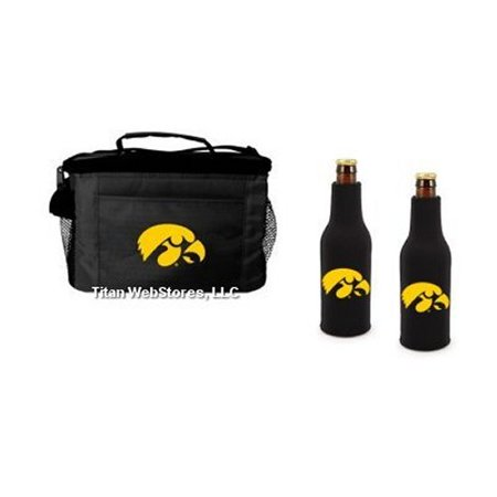 Iowa Hawkeyes Beer Bottle Cooler Set