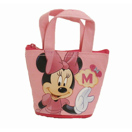Mini Handbag Style Coin Purse - Minnie Mouse by - Minnie Mouse Lanyard
