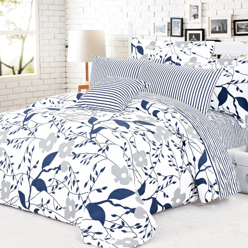 North Home Cynthia 4 Piece Reversible Duvet Cover Set