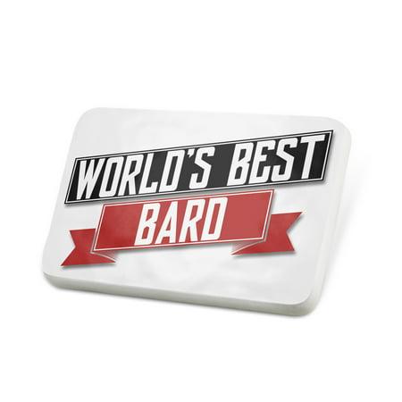 Porcelein Pin Worlds Best Bard Lapel Badge –