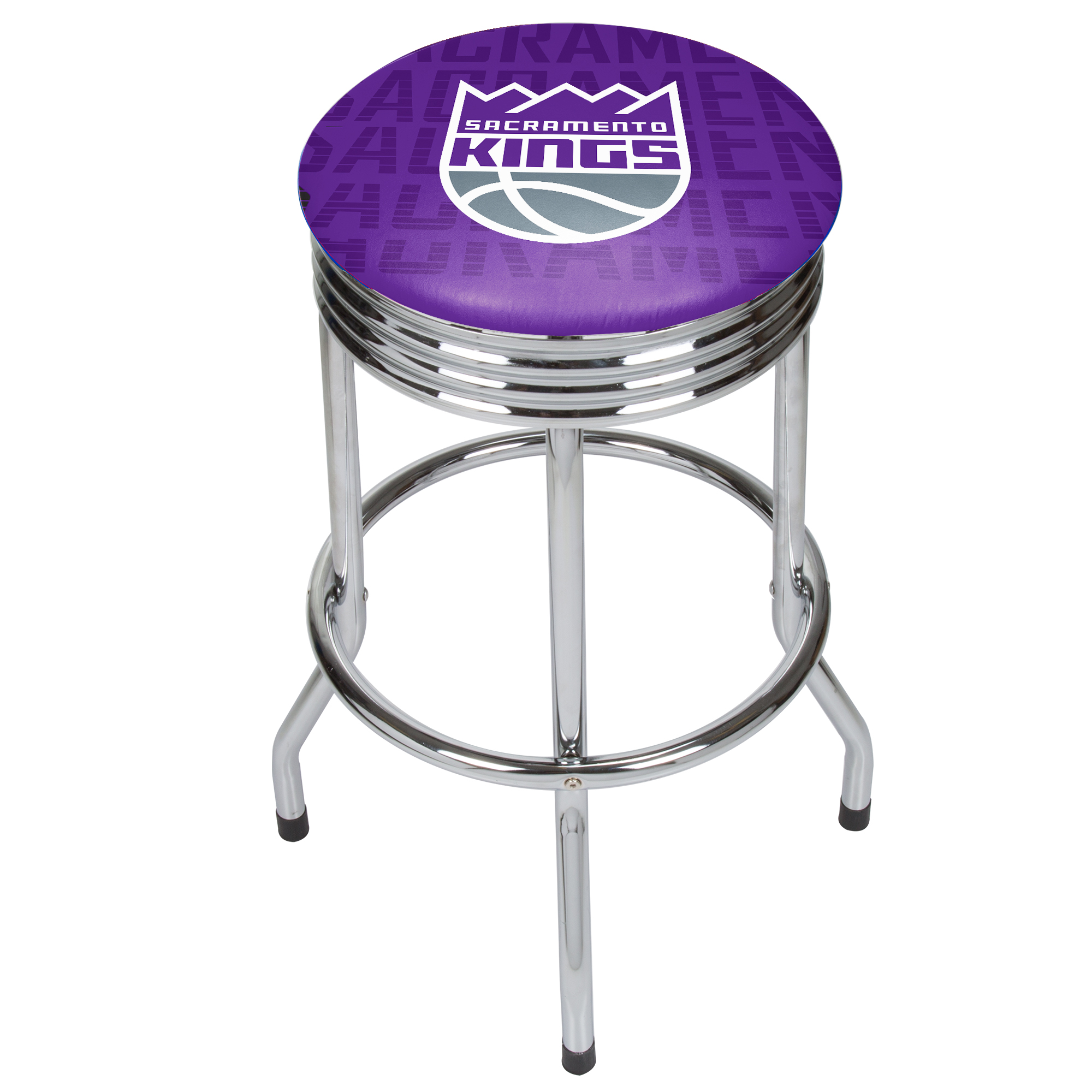 NBA Chrome Ribbed Bar Stool - City - Sacramento Kings
