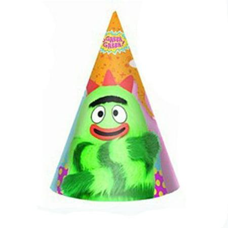 Yo Gabba Gabba! Cone Hats (8ct)](Princess Cone Hat)