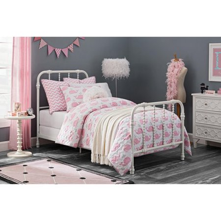 . Dorel Home DHP Jenny Lind Scroll Twin Metal Bed  White   Walmart com