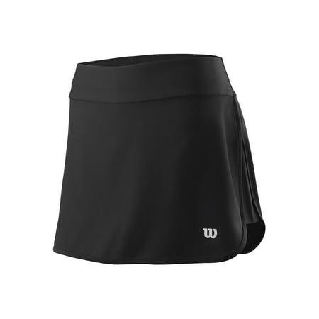 Wilson Women's Condition 13.5 Tennis Skirt, Black Wilson Elastic Waist Shorts