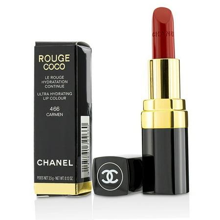 Chanel Rouge Coco Ultra Hydrating Lip Colour - 466 Carmen 0.12 oz Lipstick Rouge Noir Chanel