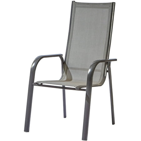 Tremendous Stackable Aluminum Outdoor Chair Grey Set Of 4 Home Interior And Landscaping Eliaenasavecom