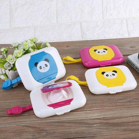 Lv. life Baby Infant Outdoor Travel Stroller Wet Wipes Box Tissue Case Dispenser , Wet tissue box, Wet wipes (Pink Wipes Case)