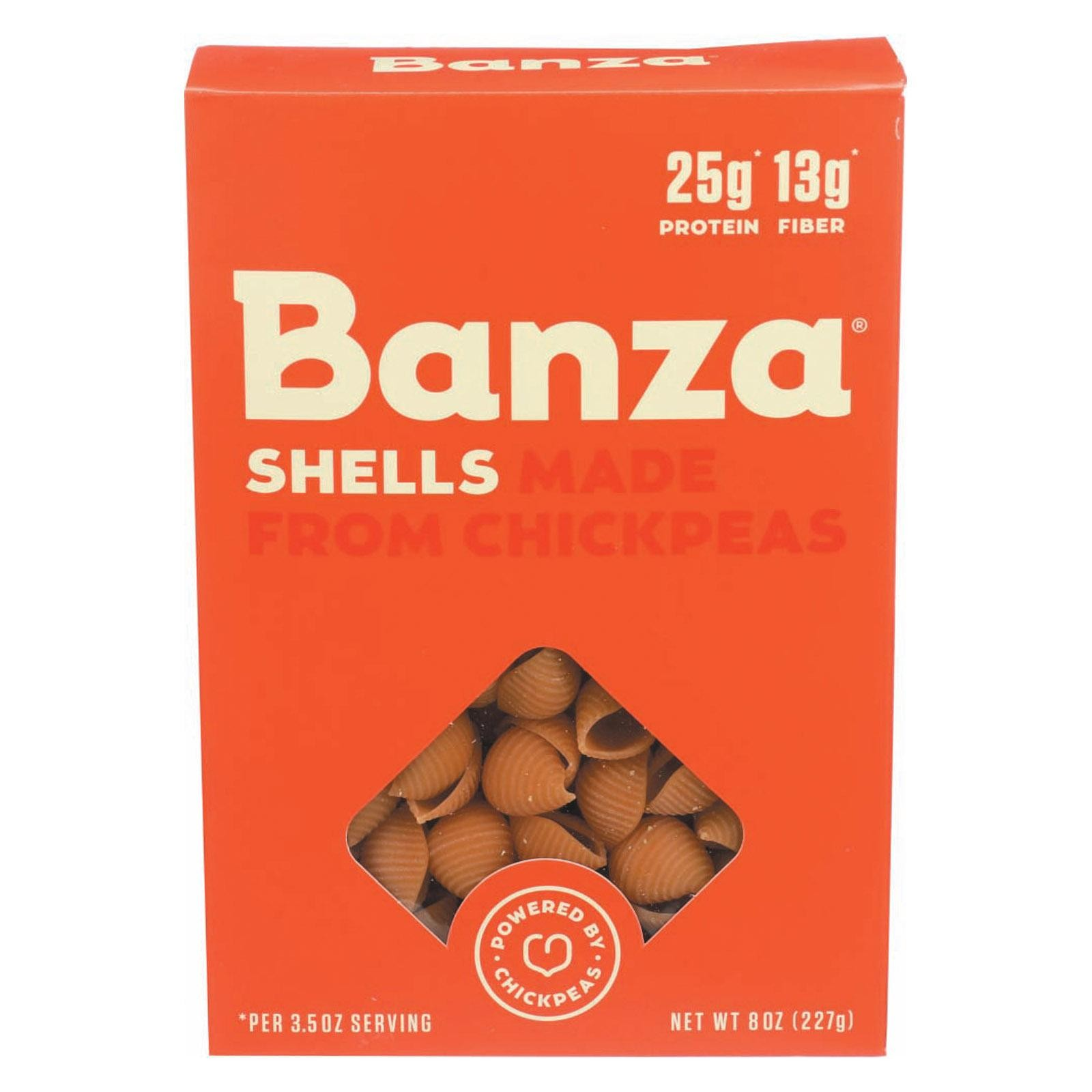 Banza Pasta Chickpea Shells - pack of 6 - 8 Oz.
