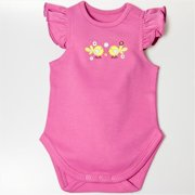 BGSRCBS69 Ruffle Sleeves Bodysuit - Pink, 6-9 months