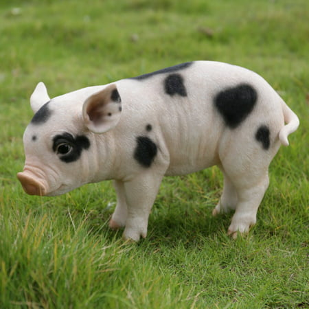 STANDING BABY PIG W/BLACK SPOTS ()