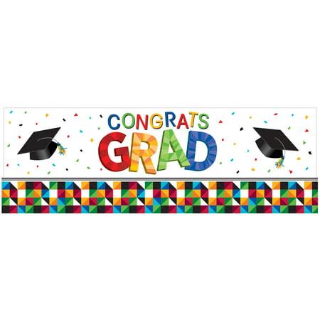 Fractal Fun Graduation Giant Party - Banner Graduation