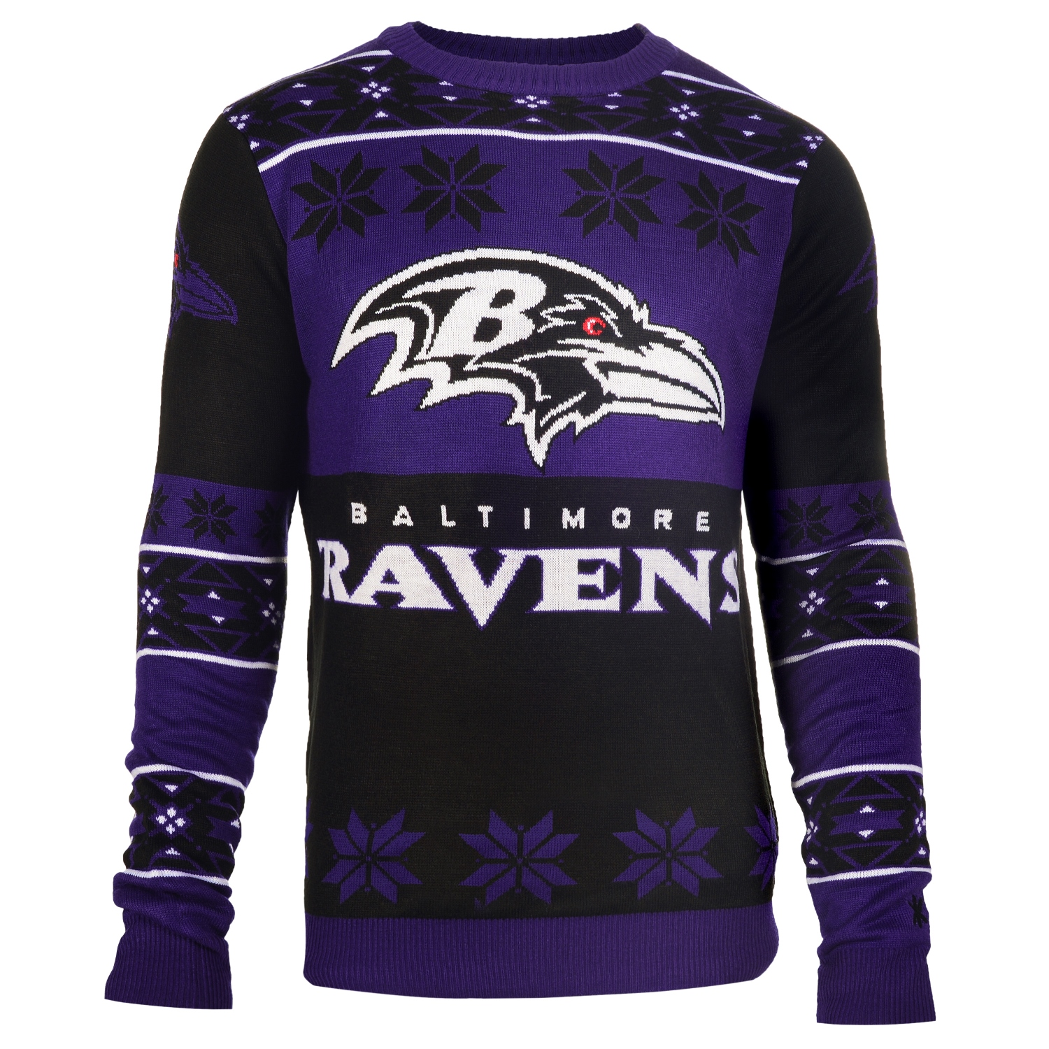 "Baltimore Ravens Men's NFL ""Big Logo"" Ugly Sweater"
