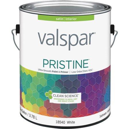 Valspar Pristine 100 Acrylic Paint Primer Satin Interior Wall Paint