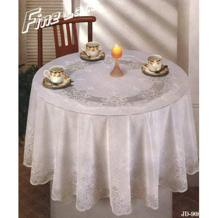 Tablecloth Vinyl Lace With Full Vinyl Backing 70 Inches