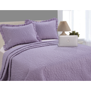 Mainstays Ultra-Soft Pinsonic Ruffled 3-Piece Quilt & Sham Bedding Set