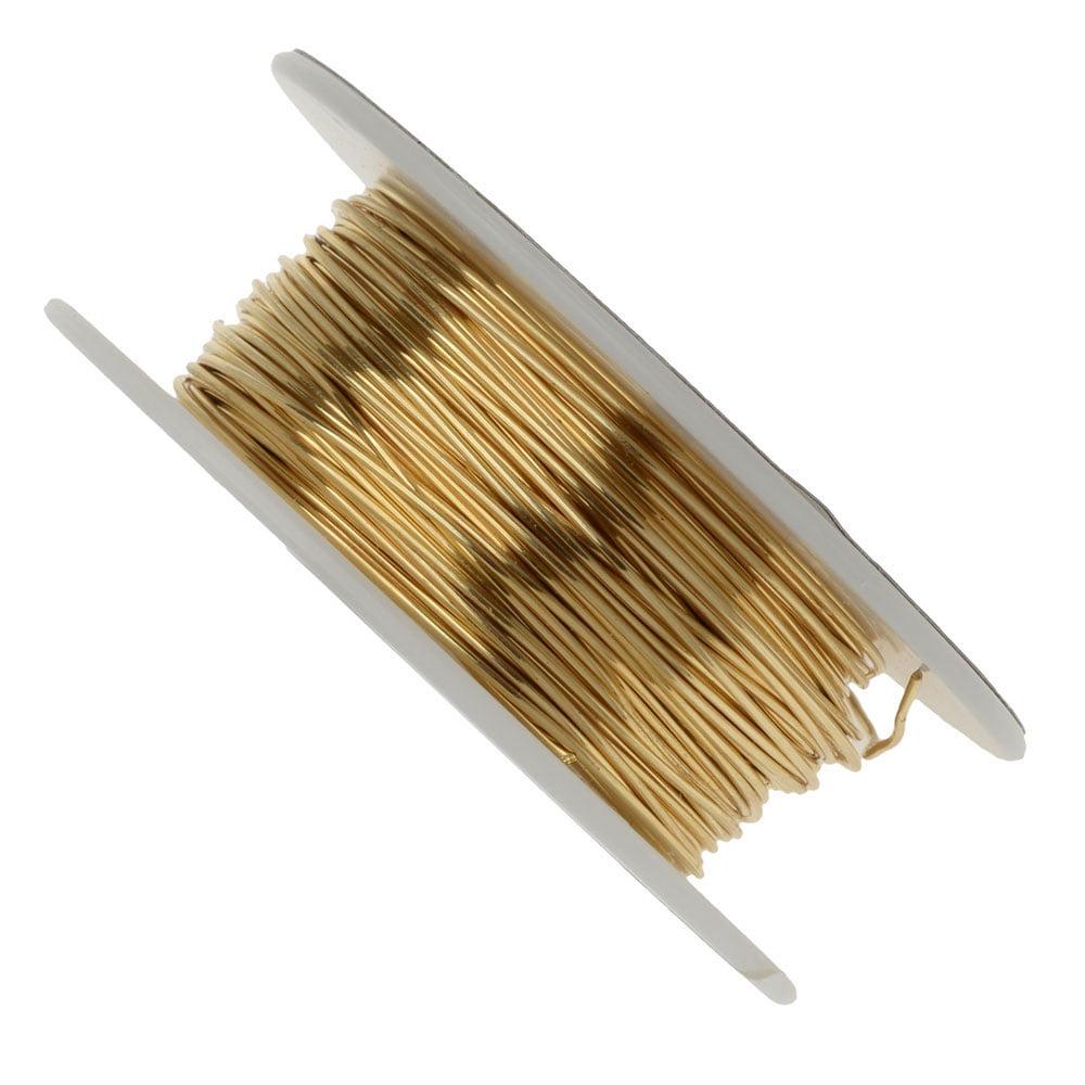 Vintaj Parawire, Solid Brass Craft Wire 22 Gauge Thick, 60 Foot Spool, Brass