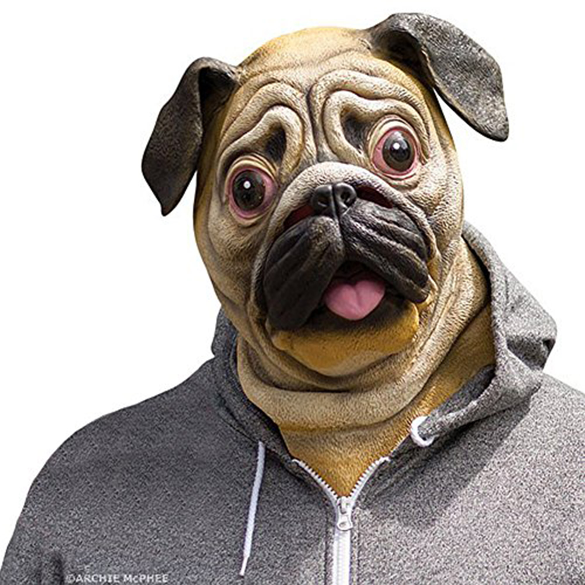 Accoutrements Adult Full Head Latex Pug Dog Animal Mask