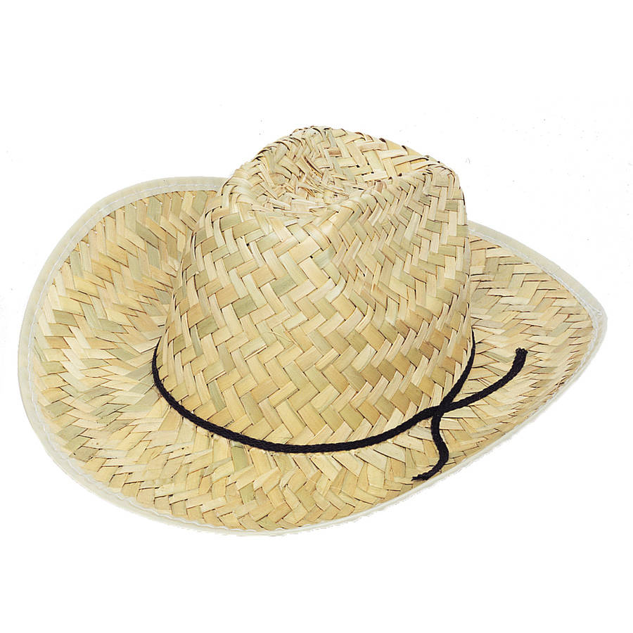 Straw Kids Cowboy Hat