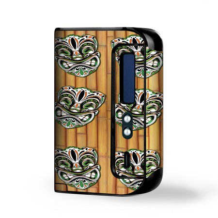 Skin Decal for Smok Osub King 220W Vape / Tiki Faces on Bamboo](Tiki Man Face)