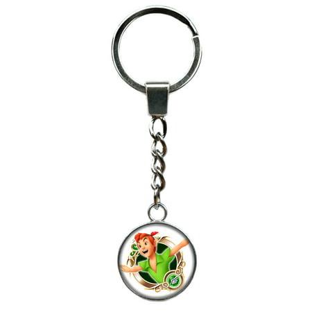 Superheroes Cosplay (Peter Pan Disney Keychain Key Ring TV Comics Movies Cartoons Superhero Logo Theme Premium Quality Detailed Cosplay Jewelry Gift)