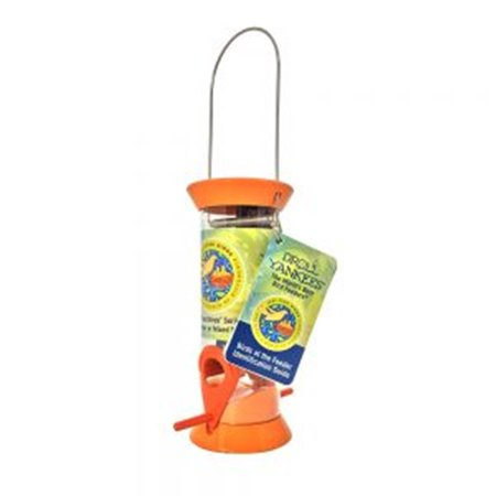 Droll Yankees JFB-S8O Just Feed Birds 8 in. Songbird Feeder Sunflower Seed, Orange