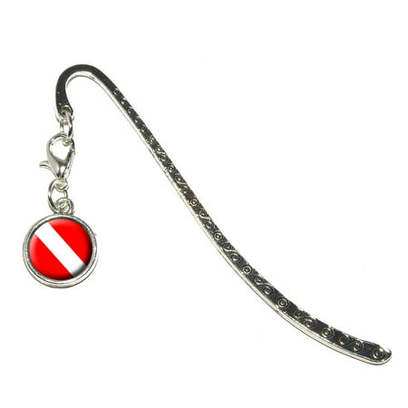 Scuba Diver Flag - Diving Metal Bookmark with Charm