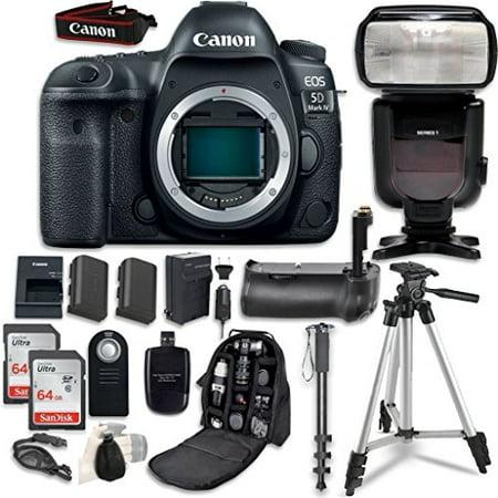 Canon EOS 5D Mark IV Digital SLR Camera Bundle (Body Only) + Professional Accessory Bundle (14 items) 5d Digital Slr Camera Body