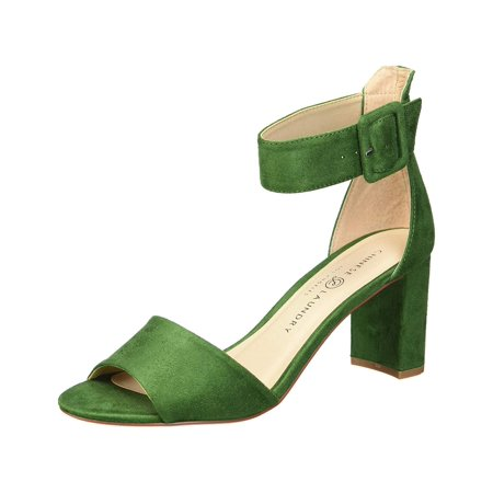 Chinese Laundry Women's Rumor Fine Suede Green Ankle-High Pump - 6M Chinese Laundry Satin Heels