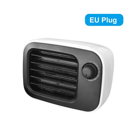 PTC Ceramic Mini Portable Constant Temperature Home Office Bedroom Desktop Energy-Saving Fan with Overheat Protection - image 7 of 7