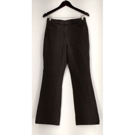 Isaac Mizrahi Live! Pants Sz 6 24/7 Stretch Boot Cut Front Zippered Gray A279252 (Cut Zipper)